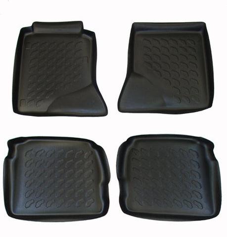 1993-2000 Mercedes Benz 300TD Carbox 4 Pc Floor Tray Set - Black - Carbox - Dropship Direct Wholesale