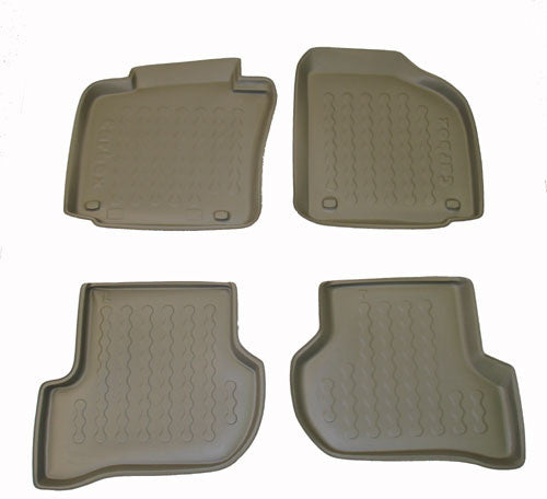 2003-2007 Volkswagen Golf V Carbox 4 Pc Floor Tray Set - Black - Carbox - Dropship Direct Wholesale