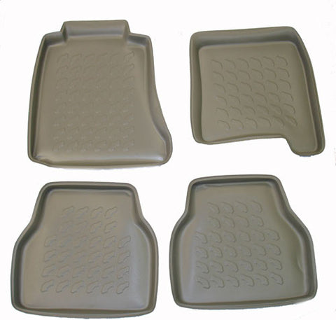 1996-2003 BMW 5 Series Sedan Carbox 4 Pc Floor Tray Set - Black - Carbox - Dropship Direct Wholesale