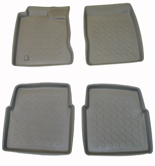 2000-2007 Chrysler PT Cruiser Carbox 4 Pc Floor Tray Set - Grey - Carbox - Dropship Direct Wholesale