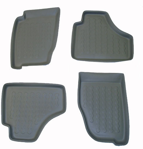 2001-2007 Jeep Liberty 4-pc Floor Tray Set - Beige - Carbox - Dropship Direct Wholesale