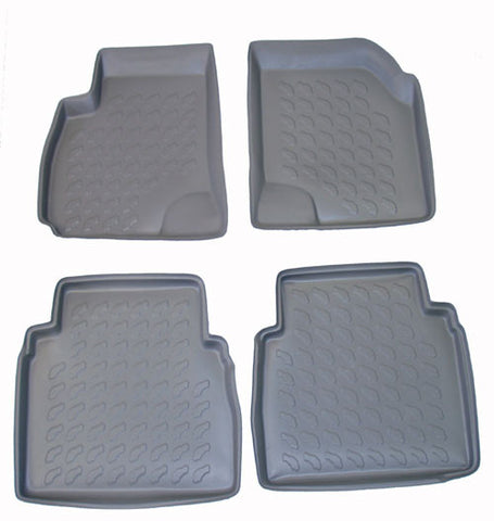 2001-2006 Hyundai Santa Fe Carbox 4 Pc Floor Tray Set - Beige - Carbox - Dropship Direct Wholesale