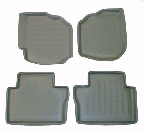 2006-2007 Volvo S80 Carbox 4 Pc Floor Tray Set - Beige - Carbox - Dropship Direct Wholesale