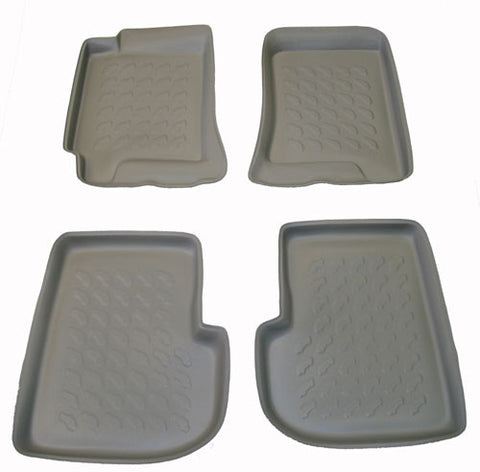 1997-2007 Subaru Forester Carbox 4 Pc Floor Tray Set - Grey - Carbox - Dropship Direct Wholesale