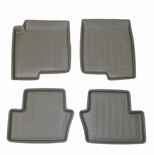 2007 Dodge Caliber Carbox 4 Pc Floor Tray Set - Black - Carbox - Dropship Direct Wholesale