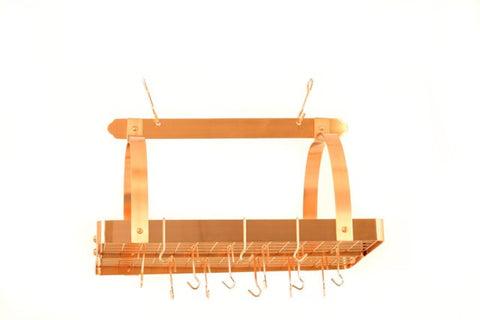 30 x 20.5 x 15.75 Satin Copper Pot Rack w/Grid 24 Hooks - Old Dutch - Dropship Direct Wholesale