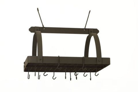 30 x 20.5 x 15.75 Graphite Pot Rack w/Grid 24 Hooks - Old Dutch - Dropship Direct Wholesale