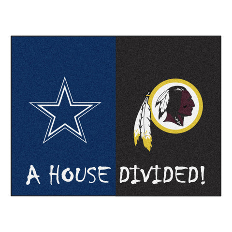 Dallas Cowboys/Washington Redskins NFL House Divided Rugs 33.75x42.5 - FANMATS - Dropship Direct Wholesale