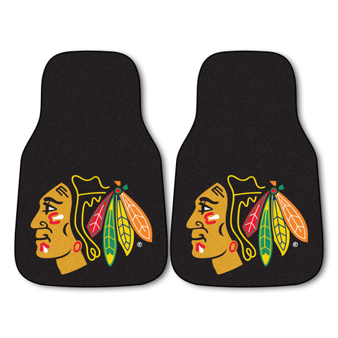 Chicago Blackhawks 2-pc Printed Carpet Car Mats 17x27 - FANMATS - Dropship Direct Wholesale