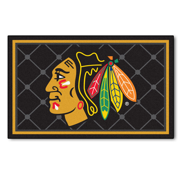 Chicago BlackhawksRug 4x6 - FANMATS - Dropship Direct Wholesale