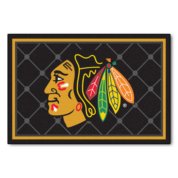 Chicago Blackhawks Rug 5x8 - FANMATS - Dropship Direct Wholesale