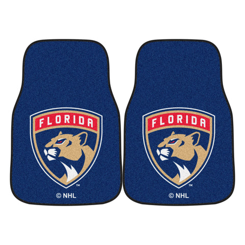 Florida Panthers 2-pc Printed Carpet Car Mats 17x27