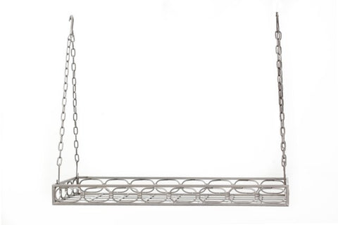36 x 17.75 x 3.75 Antique Pewter Rect Pot Rack16 Hooks - Old Dutch - Dropship Direct Wholesale