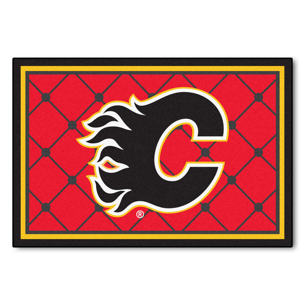 Calgary Flames Rug 5x8 - FANMATS - Dropship Direct Wholesale