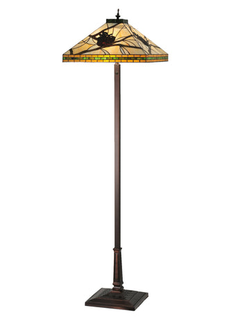 60 Inch H Honey Pine Branch Mission Floor Lamp - Meyda - Dropship Direct Wholesale