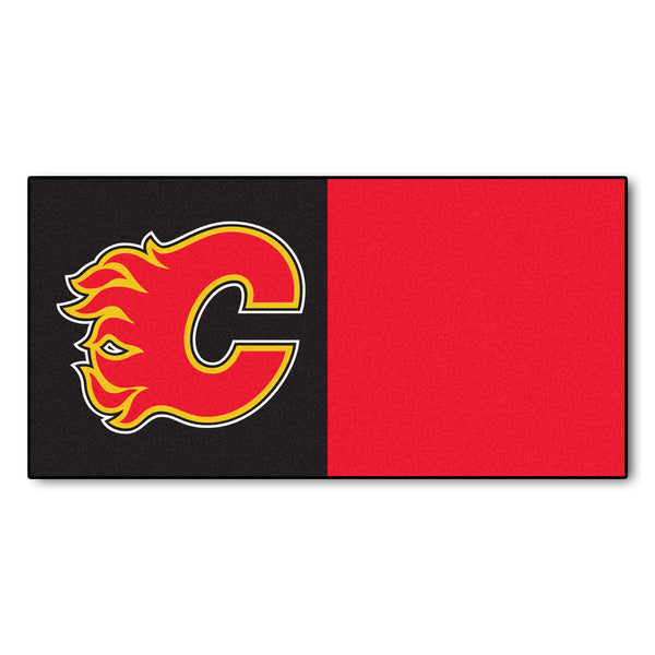 Calgary Flames Team Carpet Tiles - FANMATS - Dropship Direct Wholesale