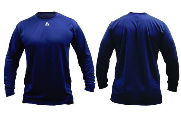 Akadema Compression Wear Long Sleeve Shirt Royal Small - Akadema - Dropship Direct Wholesale