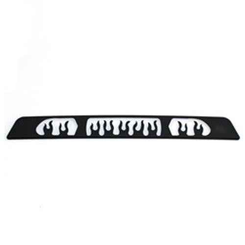 All Sales Flame 3rd Brake Light Cover-Black Powdercoat - AMI - Dropship Direct Wholesale