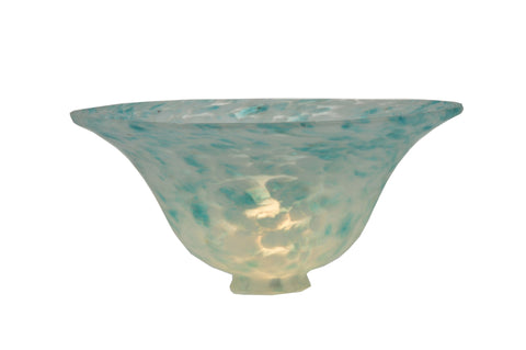 10 Inch W X 4 Inch H Teal Dapple Bell Shade - Meyda - Dropship Direct Wholesale