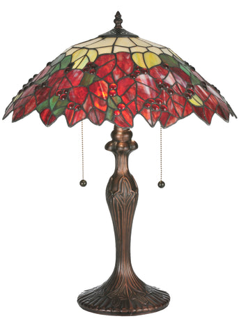 22 Inch H Poinsettia Table Lamp - Meyda - Dropship Direct Wholesale
