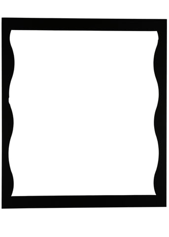28 Inch W X 32 Inch H Wavey Mirror Frame - Meyda - Dropship Direct Wholesale