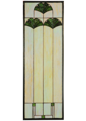 11.125 Inch W X 32.125 Inch H Ginkgo Stained Glass Window - Meyda - Dropship Direct Wholesale