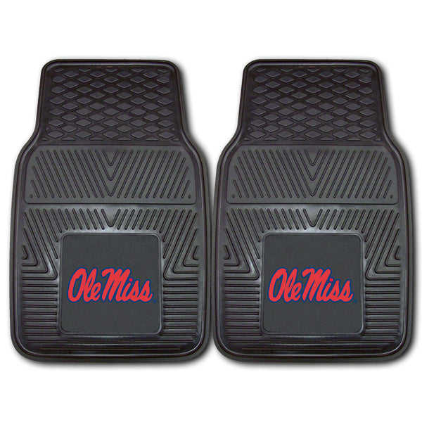 University of Mississippi Heavy Duty 2-Piece Vinyl Car Mats 17x27 - FANMATS - Dropship Direct Wholesale