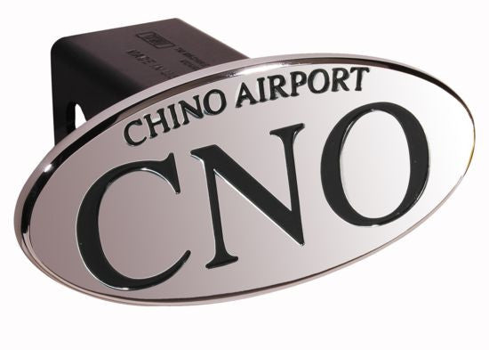 CNO Chino Airport - Black - Oval - 2 Inch Billet Hitch Cover - DefenderWorx - Dropship Direct Wholesale
