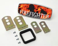 HitchMate Premier Series Hitch Cap Firefighter and Flames - HitchMate - Dropship Direct Wholesale