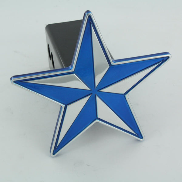 All Sales Nautical Star Hitch Cover- Blue - AMI - Dropship Direct Wholesale