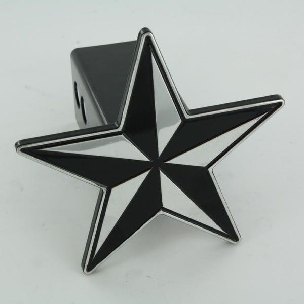 All Sales Nautical Star Hitch Cover- Black - AMI - Dropship Direct Wholesale