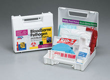 23 piece Bloodborne pathogen bodily fluid spill kit- plastic case- 1 ea. - First Aid Only - Dropship Direct Wholesale