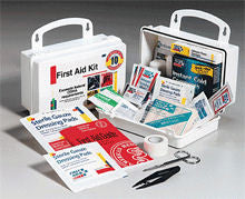 10 Person- 62 piece bulk kit- plastic case w/ gasket- 1 ea. - First Aid Only - Dropship Direct Wholesale