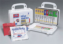 10 Unit- 46 piece unitized ANSI kit- plastic case w/ gasket- 1 ea. - First Aid Only - Dropship Direct Wholesale