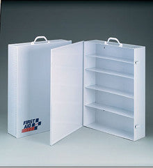 5 Shelf industrial cabinet- empty metal case w/ swing out door- 19-1/2 in. x26 in. x5-1/2 in. - 1 ea. - First Aid Only - Dropship Direct Wholesale