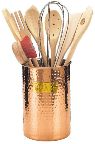 9 Pc. 6.25 H Decor Copper Hammered Tool Set 8 Tools Included - Old Dutch - Dropship Direct Wholesale