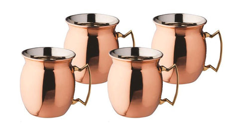 16 oz Solid Copper Moscow Mule Mugs - Set of 4 - Old Dutch - Dropship Direct Wholesale