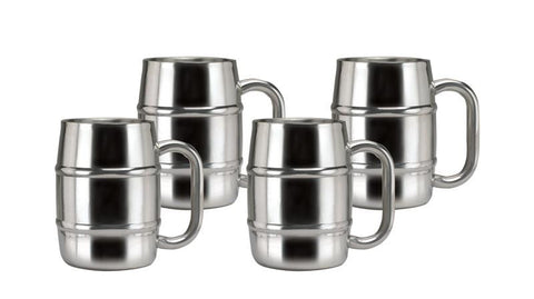 16.9 oz Keep-Kool Double Wall Stainless Steel Mug - Set of 4 - Old Dutch - Dropship Direct Wholesale