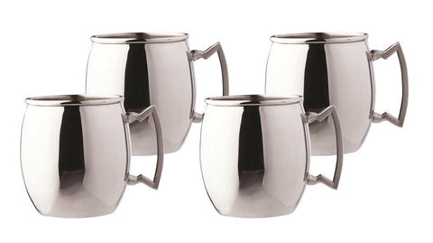 16 oz Steelii Stainless Steel Moscow Mule Mug - Set of 4 - Old Dutch - Dropship Direct Wholesale