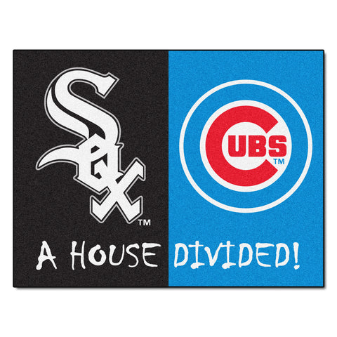 Chicago White Sox - Chicago Cubs MLB House Divided Rugs 33.75x42.5 - FANMATS - Dropship Direct Wholesale