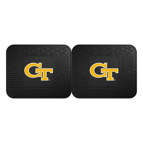 Georgia Tech Backseat Utility Mats 2 Pack 14x17 - FANMATS - Dropship Direct Wholesale
