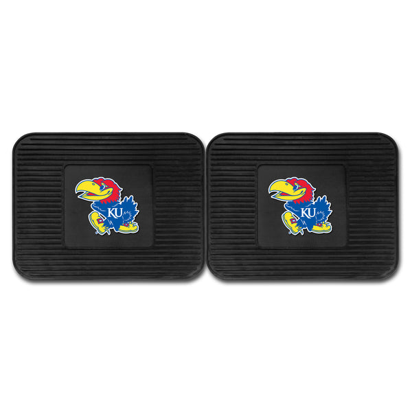 University of Kansas Backseat Utility Mats 2 Pack 14x17 - FANMATS - Dropship Direct Wholesale
