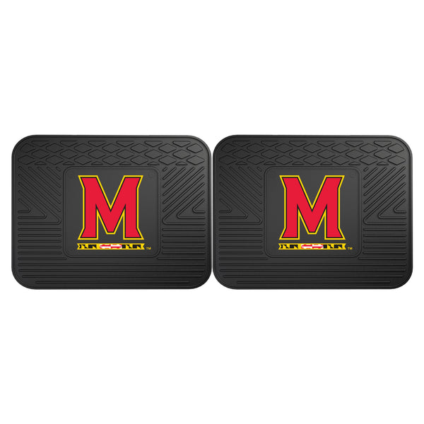 University of Maryland Backseat Utility Mats 2 Pack 14x17 - FANMATS - Dropship Direct Wholesale