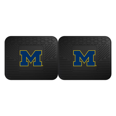 University of Michigan Backseat Utility Mats 2 Pack 14x17 - FANMATS - Dropship Direct Wholesale
