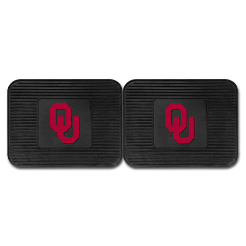 University of Oklahoma Backseat Utility Mats 2 Pack 14x17 - FANMATS - Dropship Direct Wholesale