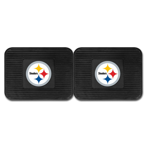 Pittsburgh Steelers Backseat Utility Mats 2 Pack 14x17 - FANMATS - Dropship Direct Wholesale