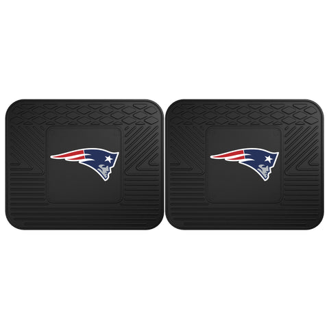 New England Patriots Backseat Utility Mats 2 Pack 14x17 - FANMATS - Dropship Direct Wholesale