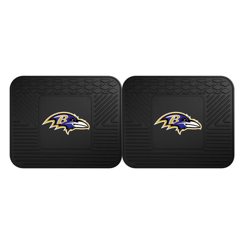 Baltimore Ravens Backseat Utility Mats 2 Pack 14x17 - FANMATS - Dropship Direct Wholesale