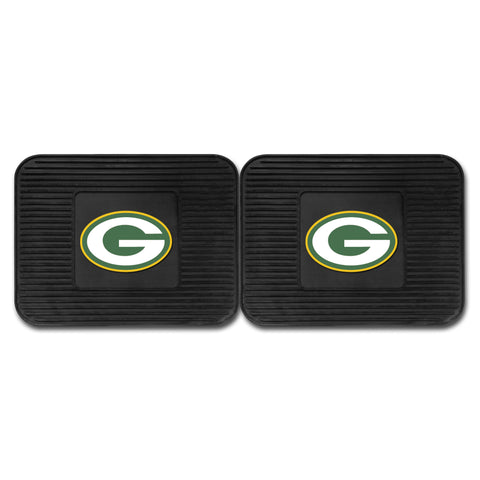 Green Bay Packers Backseat Utility Mats 2 Pack 14x17 - FANMATS - Dropship Direct Wholesale
