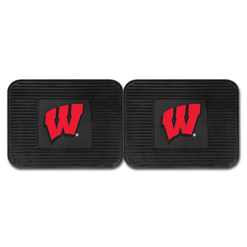 University of Wisconsin Backseat Utility Mats 2 Pack 14x17 - FANMATS - Dropship Direct Wholesale